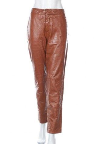 Pantaloni de piele pentru damă Closed, Mărime M, Culoare Maro, Piele naturală, Preț 114,40 Lei