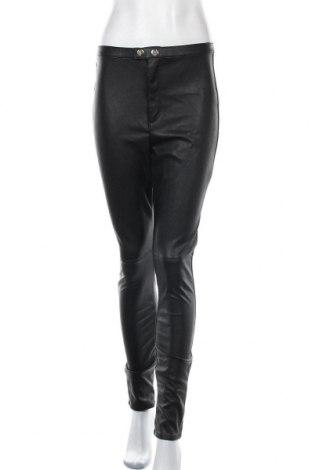 Γυναικείο παντελόνι δερμάτινο H&M Divided, Μέγεθος L, Χρώμα Μαύρο, Δερματίνη, Τιμή 20,98€
