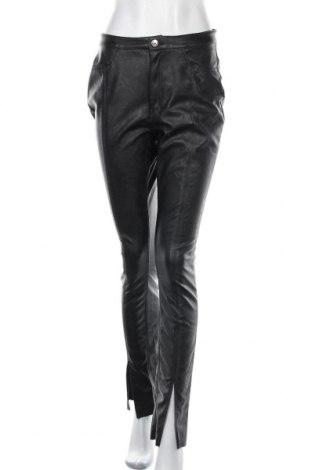 Γυναικείο παντελόνι δερμάτινο H&M Divided, Μέγεθος M, Χρώμα Μαύρο, Δερματίνη, Τιμή 19,87€