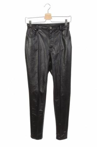 Дамски кожен панталон SHEIN, Размер XS, Цвят Черен, Еко кожа, Цена 11,34лв.