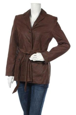 Дамски кожен шлифер S.Oliver, Размер M, Цвят Кафяв, Естествена кожа, Цена 96,76лв.