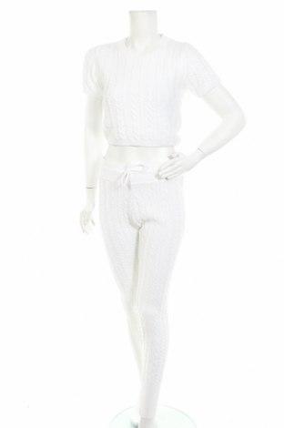 Дамски комплект Missguided, Размер M, Цвят Бял, 95% акрил, 5% еластан, Цена 51,75лв.