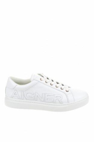 Дамски обувки Aigner, Размер 39, Цвят Бял, Естествена кожа, Цена 175,60лв.