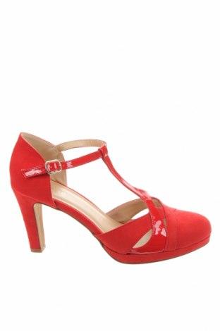 Γυναικεία παπούτσια Anna Field, Μέγεθος 40, Χρώμα Κόκκινο, Κλωστοϋφαντουργικά προϊόντα, δερματίνη, Τιμή 18,22€