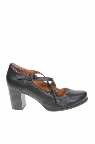 Дамски обувки Clarks, Размер 41, Цвят Черен, Естествена кожа, Цена 45,60лв.