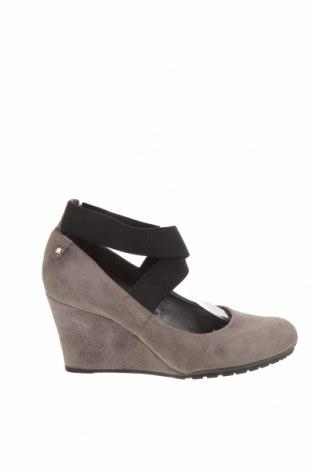 Γυναικεία παπούτσια Clarks, Μέγεθος 40, Χρώμα Γκρί, Φυσικό σουέτ, κλωστοϋφαντουργικά προϊόντα, Τιμή 26,72€
