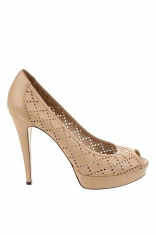Дамски обувки Gucci, Размер 39, Цвят Бежов, Естествена кожа, Цена 149,80лв.