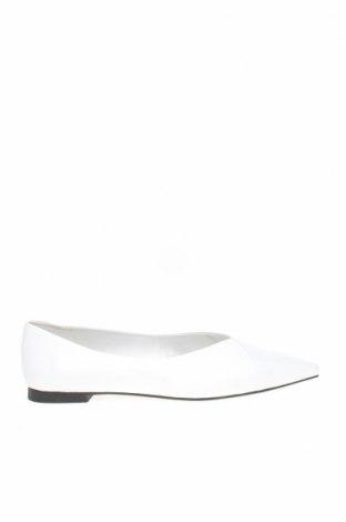 Дамски обувки Mango, Размер 39, Цвят Бял, Естествена кожа, Цена 59,50лв.