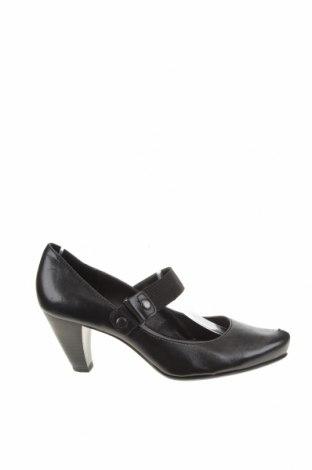 Дамски обувки Marco Tozzi, Размер 38, Цвят Черен, Естествена кожа, Цена 44,88лв.
