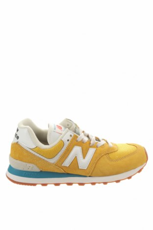Γυναικεία παπούτσια New Balance, Μέγεθος 38, Χρώμα Κίτρινο, Κλωστοϋφαντουργικά προϊόντα, δερματίνη, φυσικό σουέτ, Τιμή 64,18€