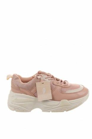 Дамски обувки Stradivarius, Размер 38, Цвят Розов, Еко кожа, текстил, Цена 59,00лв.