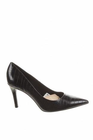 Дамски обувки Stradivarius, Размер 37, Цвят Черен, Еко кожа, Цена 62,00лв.