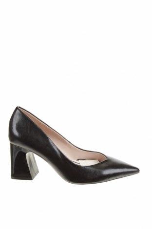 Дамски обувки Zara, Размер 37, Цвят Черен, Еко кожа, Цена 29,37лв.