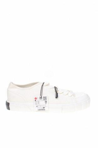 Дамски обувки Zara, Размер 41, Цвят Бял, Текстил, Цена 22,05лв.