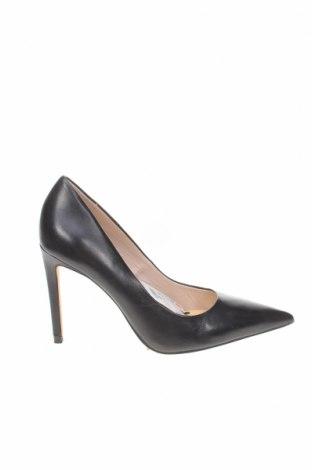 Дамски обувки Zara, Размер 39, Цвят Черен, Естествена кожа, Цена 27,25лв.