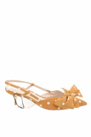 Γυναικεία παπούτσια Zara, Μέγεθος 36, Χρώμα Κίτρινο, Κλωστοϋφαντουργικά προϊόντα, Τιμή 27,53€