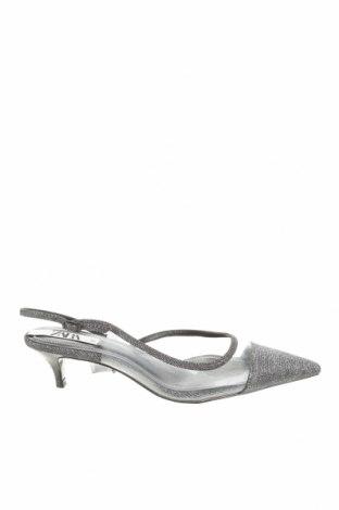 Γυναικεία παπούτσια Zara, Μέγεθος 37, Χρώμα Ασημί, Πολυουρεθάνης, κλωστοϋφαντουργικά προϊόντα, Τιμή 8,26€