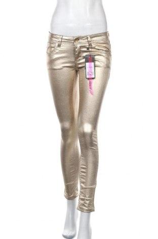 Дамски панталон Cool Cat, Размер S, Цвят Златист, 75% памук, 22% полиестер, 3% еластан, Цена 53,87лв.