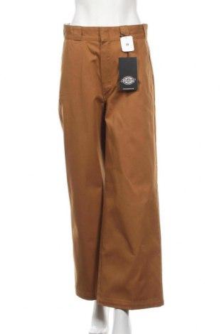 Дамски панталон Dickies, Размер M, Цвят Кафяв, 65% полиестер, 35% памук, Цена 67,20лв.