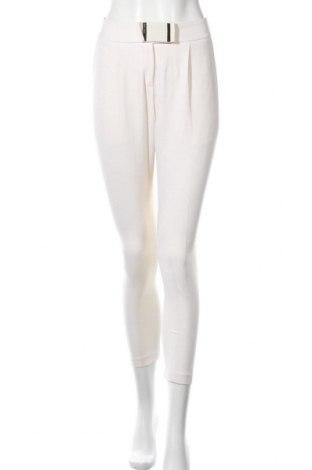 Pantaloni de femei Elisabetta Franchi, Mărime S, Culoare Ecru, 95% poliester, 5% elastan, Preț 217,51 Lei