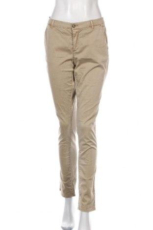 Pantaloni de femei Esprit, Mărime M, Culoare Bej, 98% bumbac, 2% elastan, Preț 31,58 Lei