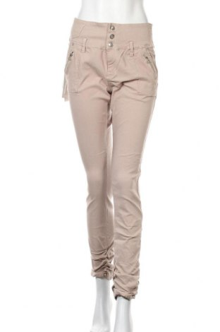 Дамски панталон Floyd By Smith, Размер L, Цвят Бежов, 70% памук, 23% полиестер, 7% еластан, Цена 38,59лв.