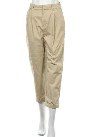 Дамски панталон H&M, Размер XS, Цвят Бежов, 98% памук, 2% еластан, Цена 24,00лв.