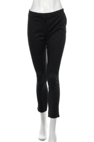 Дамски панталон Hallhuber, Размер M, Цвят Черен, 57% памук, 40% полиестер, 3% еластан, Цена 12,34лв.