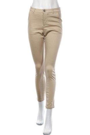 Дамски панталон Kaffe, Размер S, Цвят Бежов, 98% памук, 2% еластан, Цена 10,76лв.