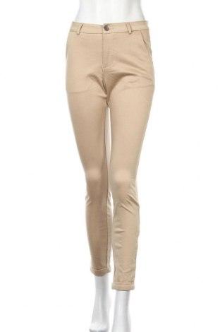 Дамски панталон Kaffe, Размер S, Цвят Бежов, 98% памук, 2% еластан, Цена 9,98лв.