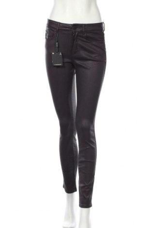 Дамски панталон Massimo Dutti, Размер S, Цвят Лилав, 98% памук, 2% еластан, Цена 66,75лв.