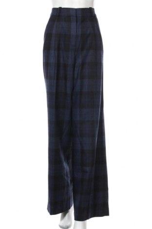 Дамски панталон Massimo Dutti, Размер M, Цвят Син, 80% вълна, 20% полиамид, Цена 81,75лв.