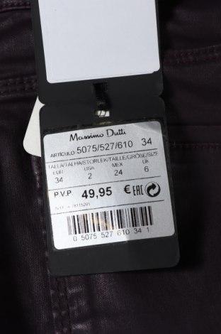 Дамски панталон Massimo Dutti, Размер XS, Цвят Лилав, 98% памук, 2% еластан, Цена 17,36лв.