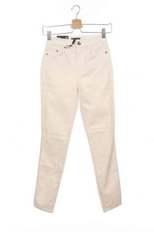 Dámské kalhoty  Massimo Dutti, Velikost XS, Barva Krémová, 67% bavlna, 30% lyocell, 3% elastan, Cena  389,00Kč
