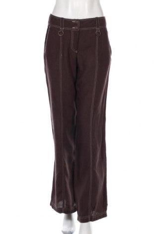 Дамски панталон Max&Co., Размер M, Цвят Кафяв, Лен, Цена 31,24лв.