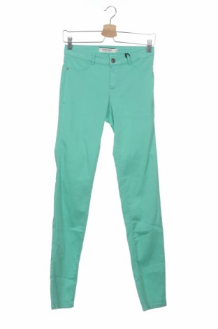 Дамски панталон Naf Naf, Размер XS, Цвят Зелен, 59% памук, 38% полиестер, 3% еластан, Цена 13,24лв.