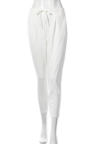 Дамски панталон ONLY, Размер L, Цвят Бял, 63% вискоза, 32% полиамид, 5% еластан, Цена 51,75лв.