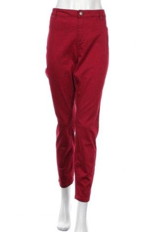 Dámské kalhoty , Velikost XXL, Barva Červená, 67% bavlna, 29% polyester, 4% elastan, Cena  349,00Kč