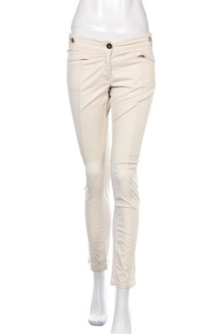 Дамски панталон Weekend Max Mara, Размер S, Цвят Бежов, 97% памук, 3% еластан, Цена 39,78лв.