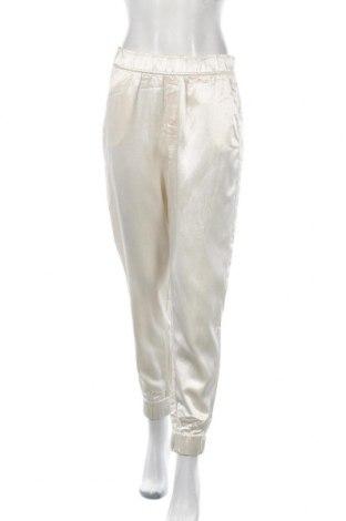 Pantaloni de femei Zara, Mărime M, Culoare Ecru, 55% viscoză, 45% bumbac, Preț 194,08 Lei