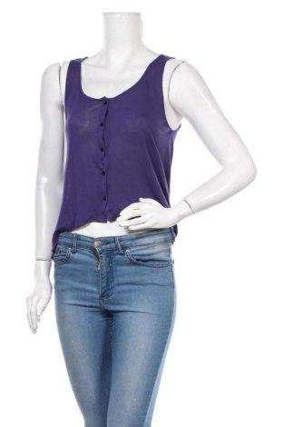 Γυναικείο αμάνικο μπλουζάκι H&M Divided, Μέγεθος S, Χρώμα Βιολετί, Βισκόζη, Τιμή 10,84€