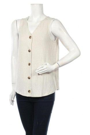 Γυναικείο αμάνικο μπλουζάκι Suzanne Grae, Μέγεθος M, Χρώμα  Μπέζ, 76% βισκόζη, 21% πολυεστέρας, 3% ελαστάνη, Τιμή 3,41€