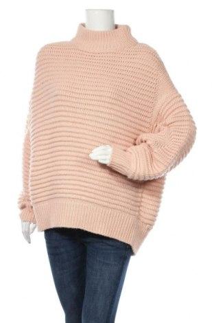 Pulover de femei H&M, Mărime L, Culoare Roz, 90%acril, 10% lână, Preț 43,27 Lei