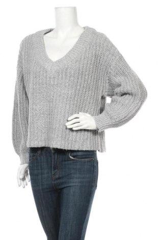 Дамски пуловер Vrs Woman, Размер L, Цвят Сив, 80% акрил, 20% полиестер, Цена 12,41лв.