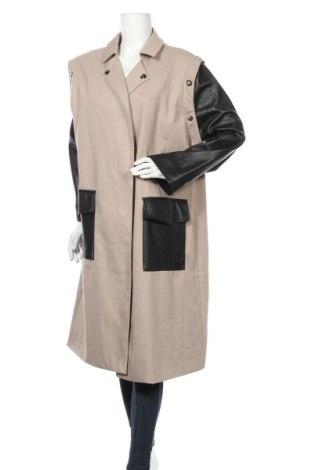 Дамски шлифер 4th & Reckless, Размер XL, Цвят Бежов, 79% полиестер, 19% вискоза, 2% еластан, Цена 61,41лв.