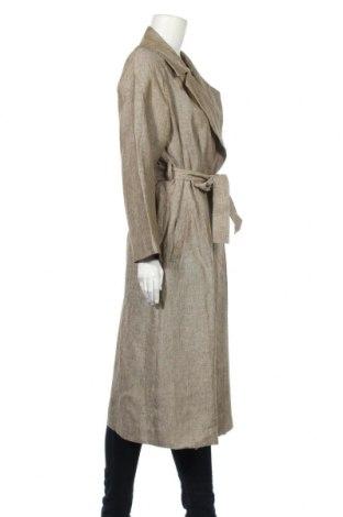Дамски шлифер Massimo Dutti, Размер M, Цвят Бежов, Лен, Цена 186,75лв.