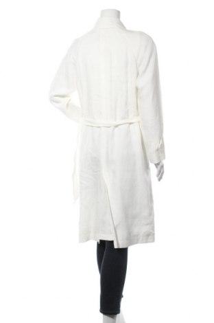 Дамски шлифер Massimo Dutti, Размер S, Цвят Бял, Лен, Цена 186,75лв.
