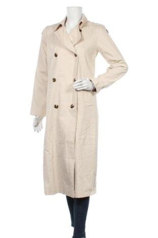 Дамски шлифер Object, Размер XS, Цвят Бежов, Памук, Цена 67,05лв.
