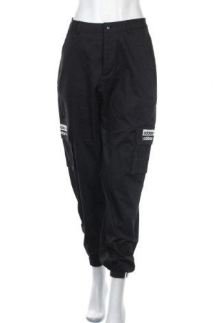 Pantaloni sport de femei Adidas Originals, Mărime S, Culoare Negru, Bumbac, Preț 318,26 Lei