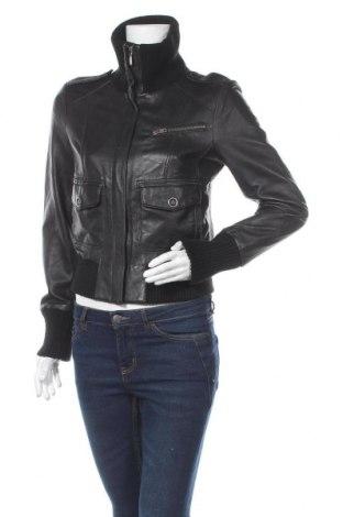 Дамско кожено яке Oasis, Размер M, Цвят Черен, Естествена кожа, Цена 55,91лв.